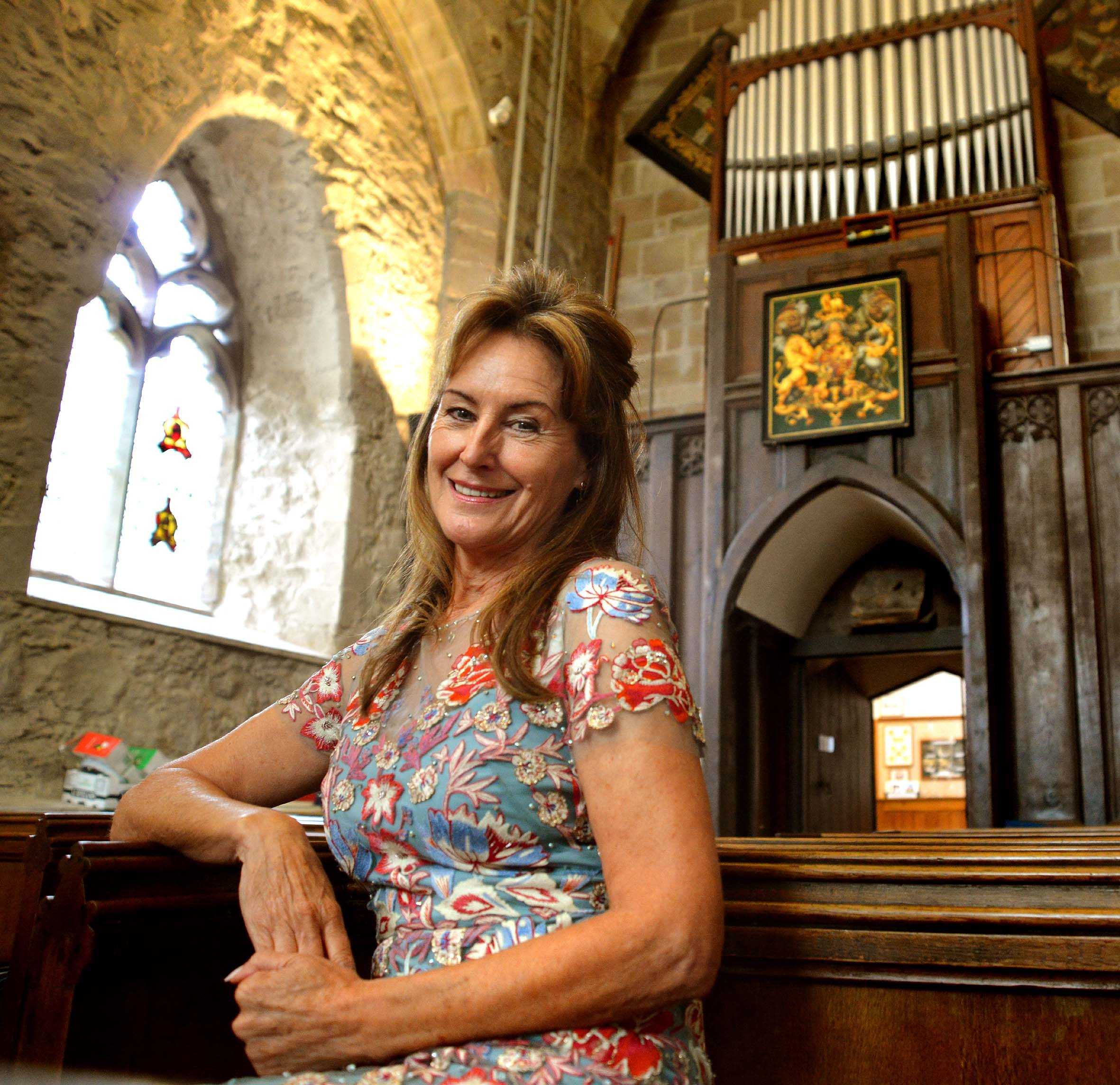 MGJAPrioryConcert..Soprano Linda Tolchard is to perform at Little Malvern Priory on September 4 to help raise money to restore the William Hill Organ there.
