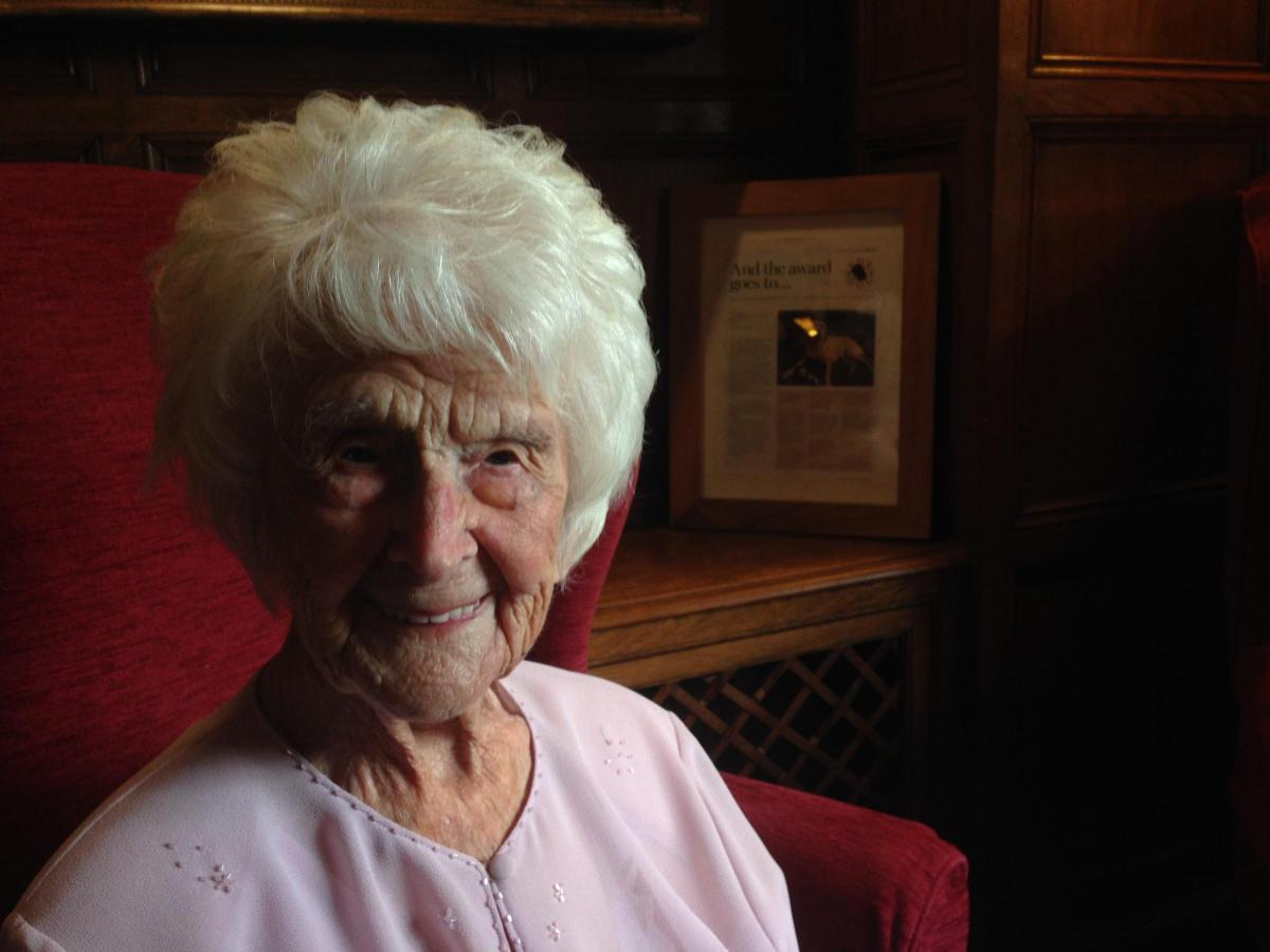 'Amazing' Grace Jones, the oldest person in the uk