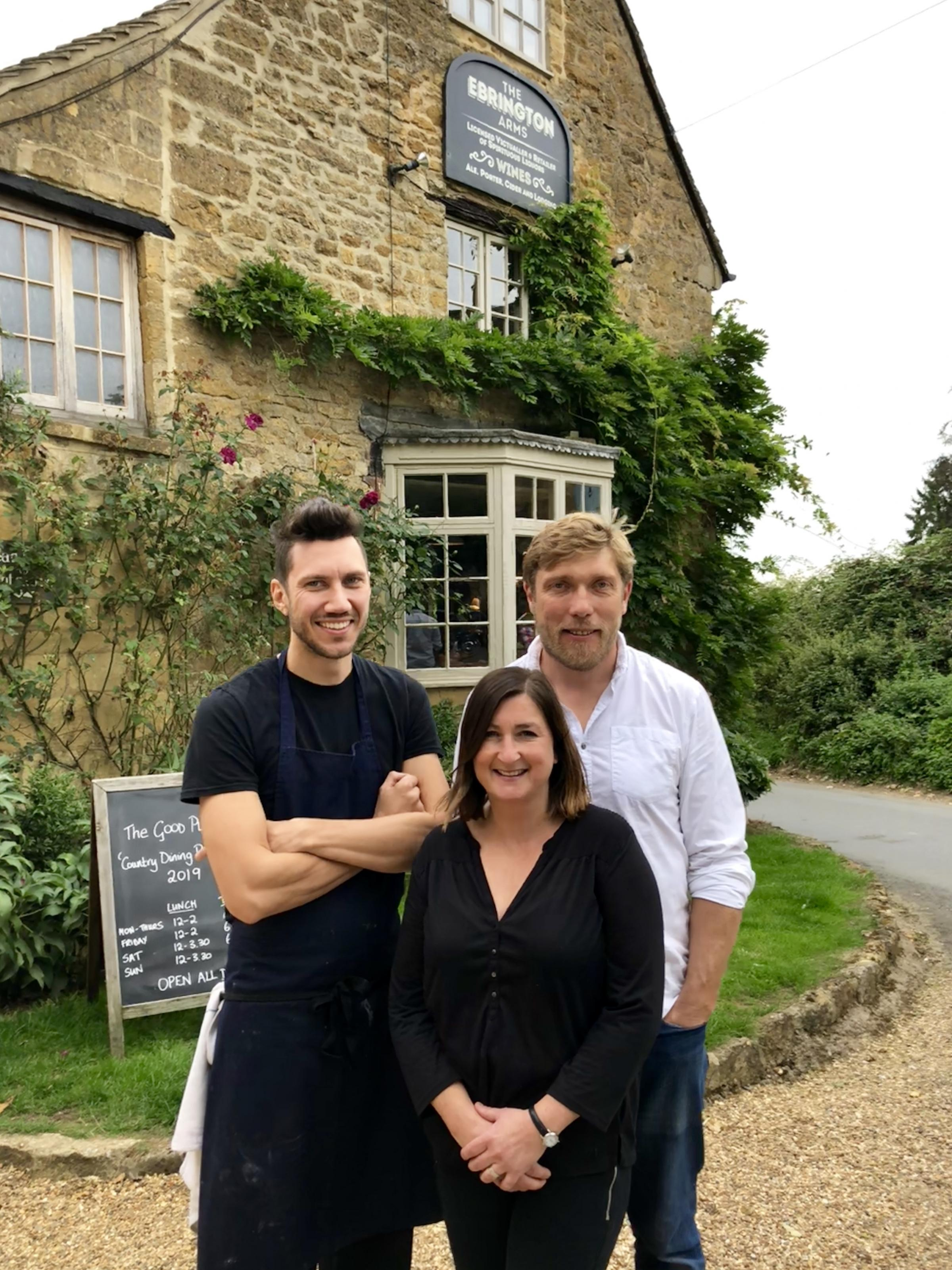 PROUD: The Erbrington Arms , a Cotswold pub wins pretigeous award