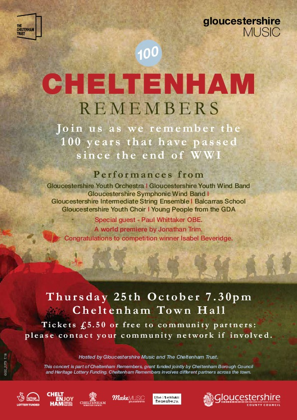 Gloucestershire Youth Choir (GYC) recruiting for First World War concert