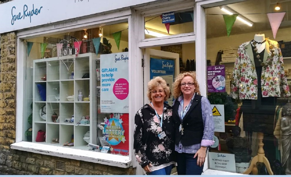 SHOP: Sue Ryder Bourton-on-the-Water shop volunteers Helen and manager Samantha Phillips