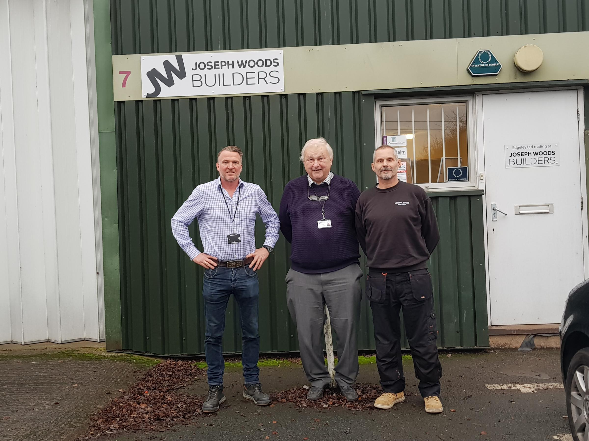 BUILDERS: Sean Cochrane, Dave Ashman and Ade Loader from Joseph Woods Builders
