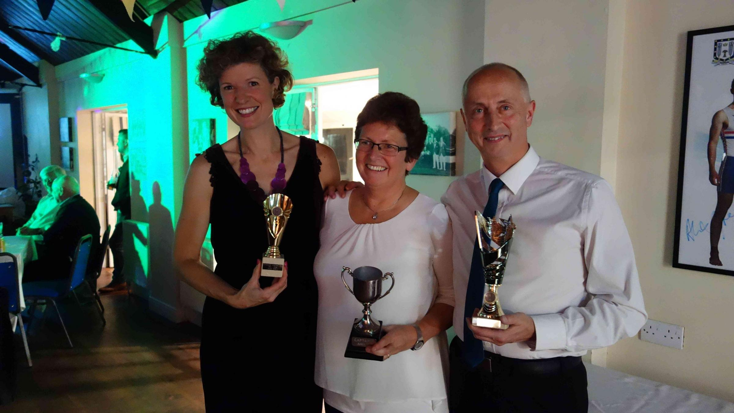 Pershore Phoenix's Louise Fifield, Terri Dacombe and Andy Dacombe