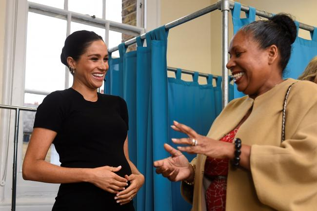 The Duchess of Sussex on a visit to Smart Works