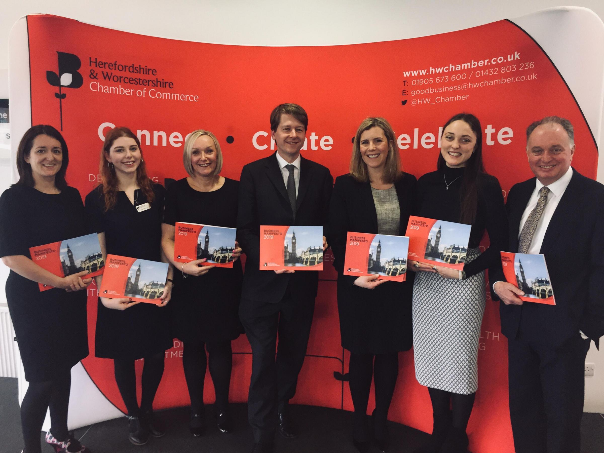 LAUNCH: (Left to right) Hannah Essex, Daisie Rees-Evans, Sharon Smith, Robin Walker, Cassie Bray, Poppy Bramford and Neil Schofield
