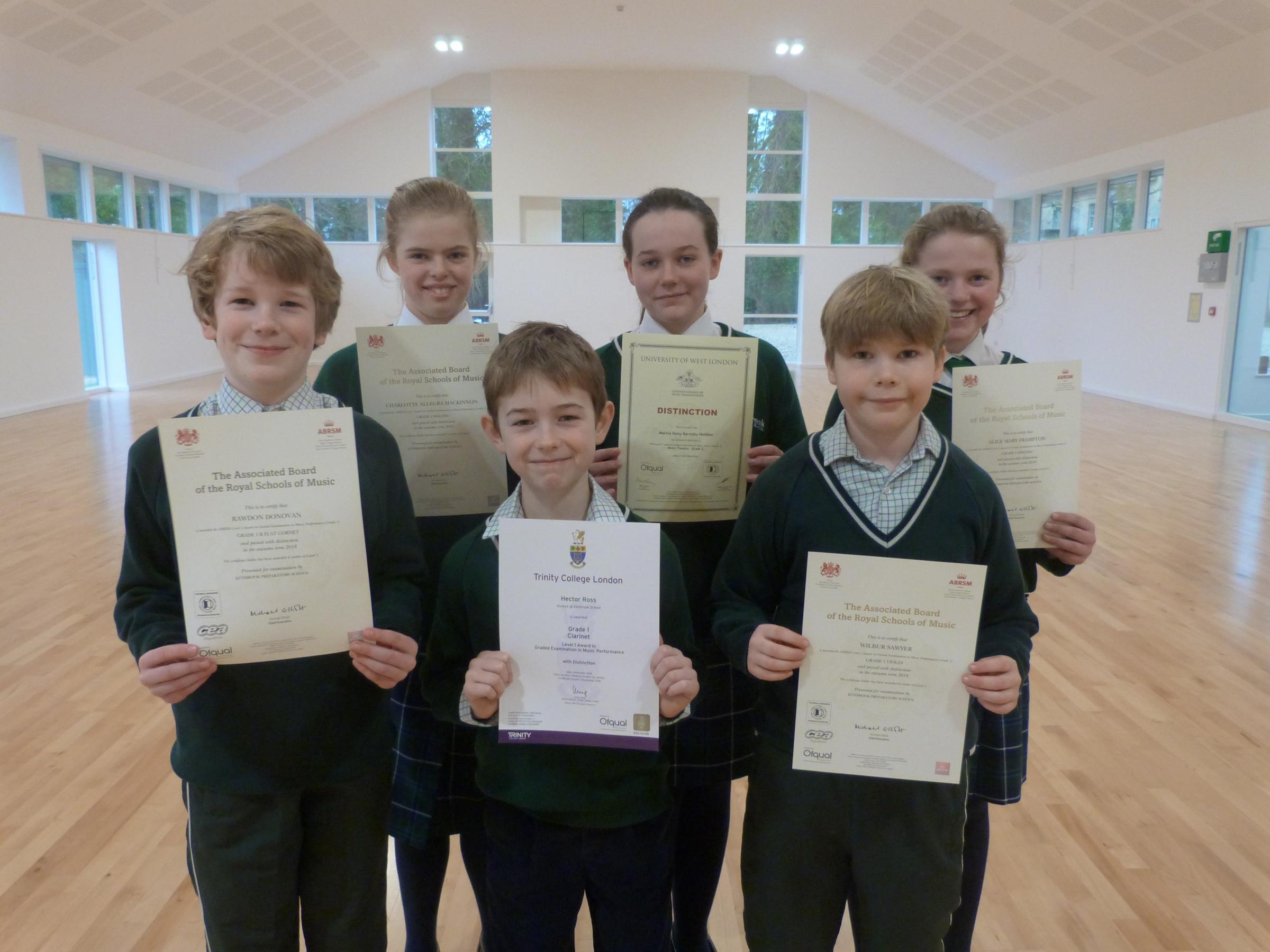 SUCCESS: Kitebrook Preparatory School pupils with their certificates