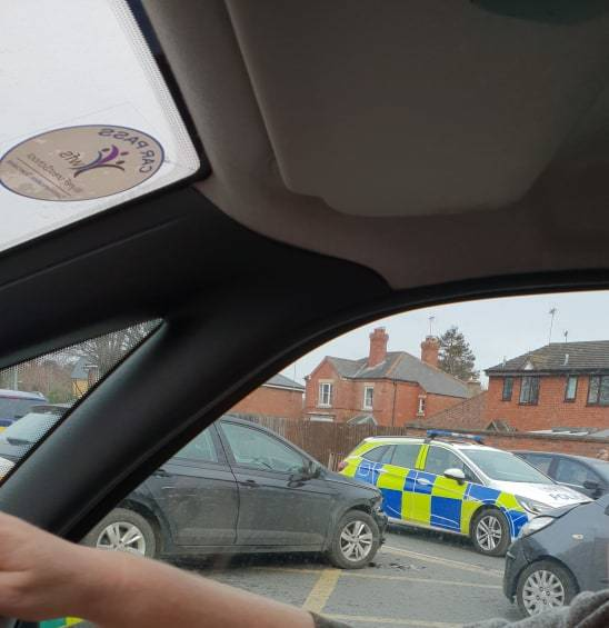Collision between two cars on Stourport Road. PIC: Charlotte Gates