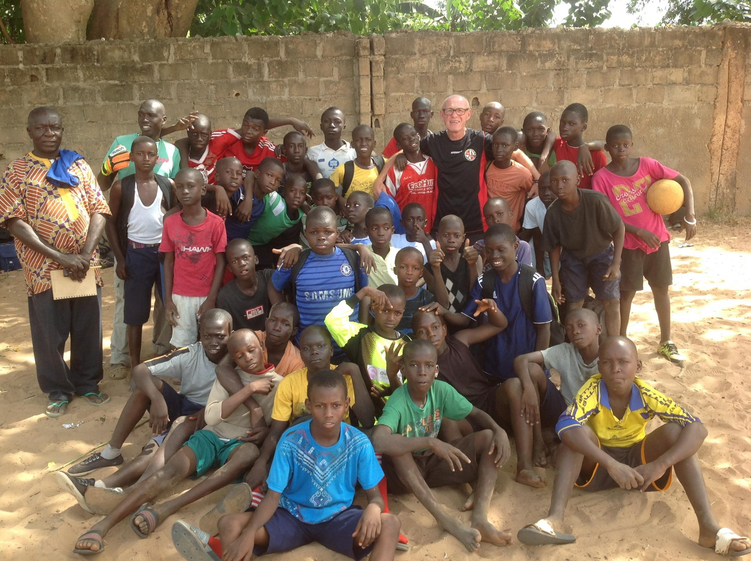 AFRICAN ADVENTURE: Evesham United youth co-ordinator Dave Giles