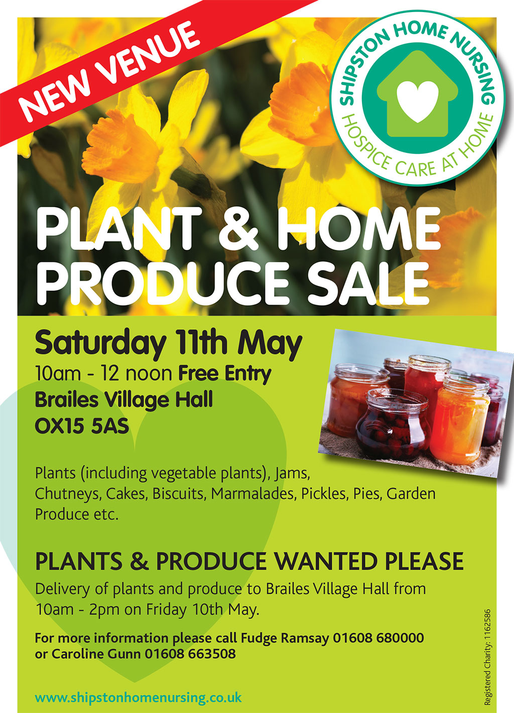 PLANT & HOME PRODUCE SALE – NEW VENUE