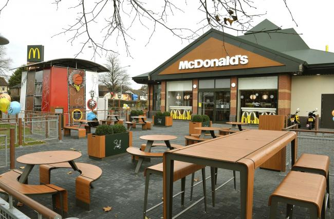 Cowdray Avenue, Colchester, McDonalds, reopen after investment..Increased ouside seating area and Play centre.