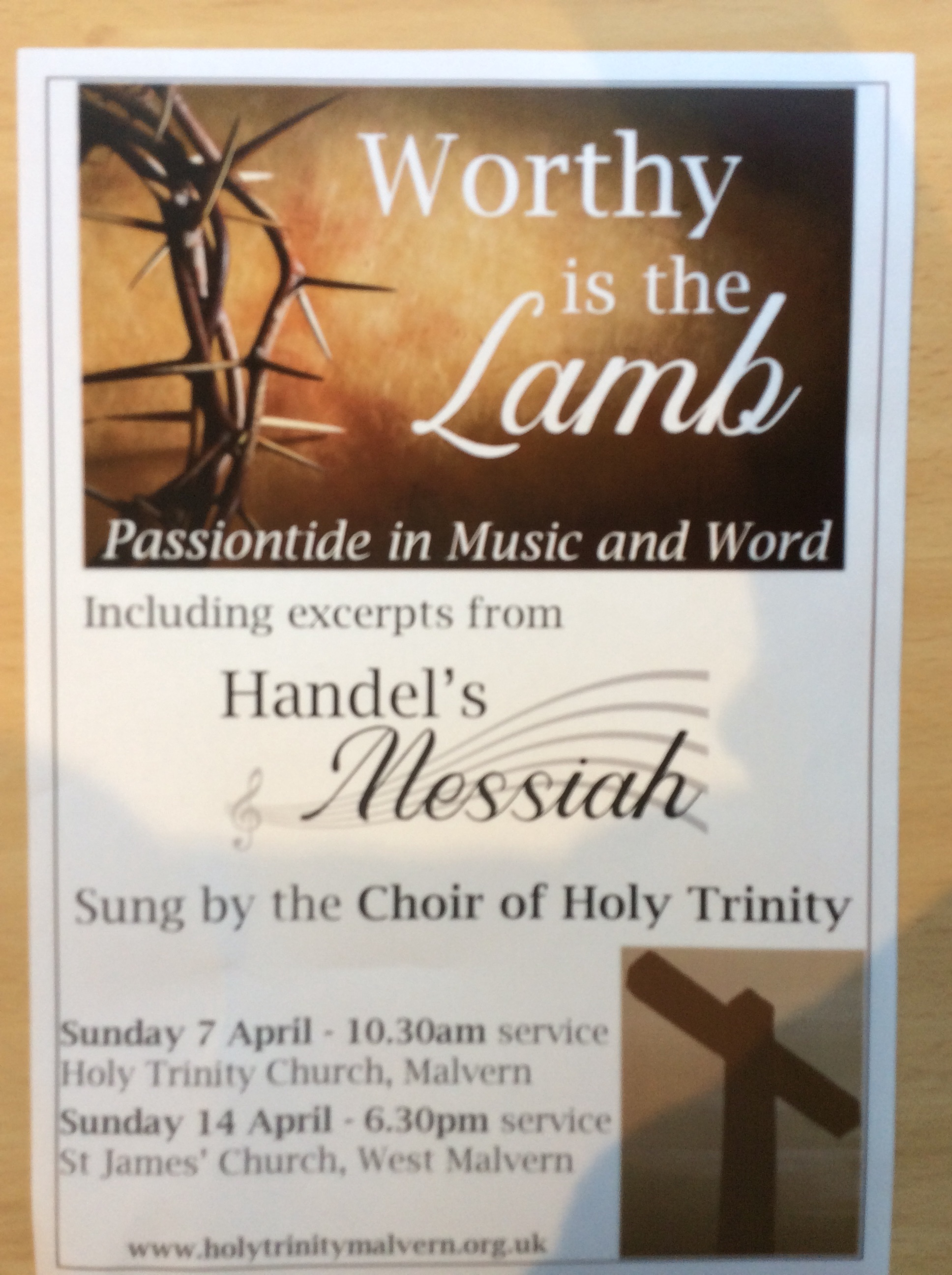 Passiontide in  music and words
