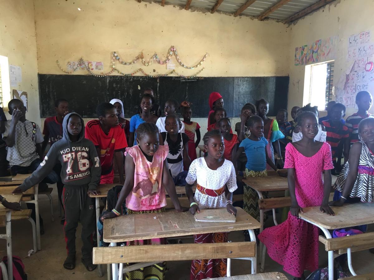 Bowbrook House pupils give school uniform to Senegal