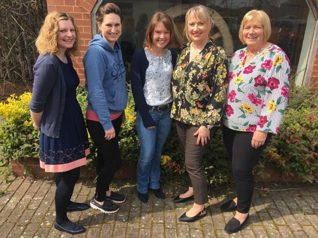 Left to right: Sharon Amery (WISH Herefordshire, Herefordshire Council), Zoe Hooper (ActiveHERE Mentor), Yvonne Richards (Healthy Lifestyle Advisor, Herefordshire Council), Sarah Volpe (ActiveHERE Project Coordinator), Jan Perridge (ignite CIC Director).