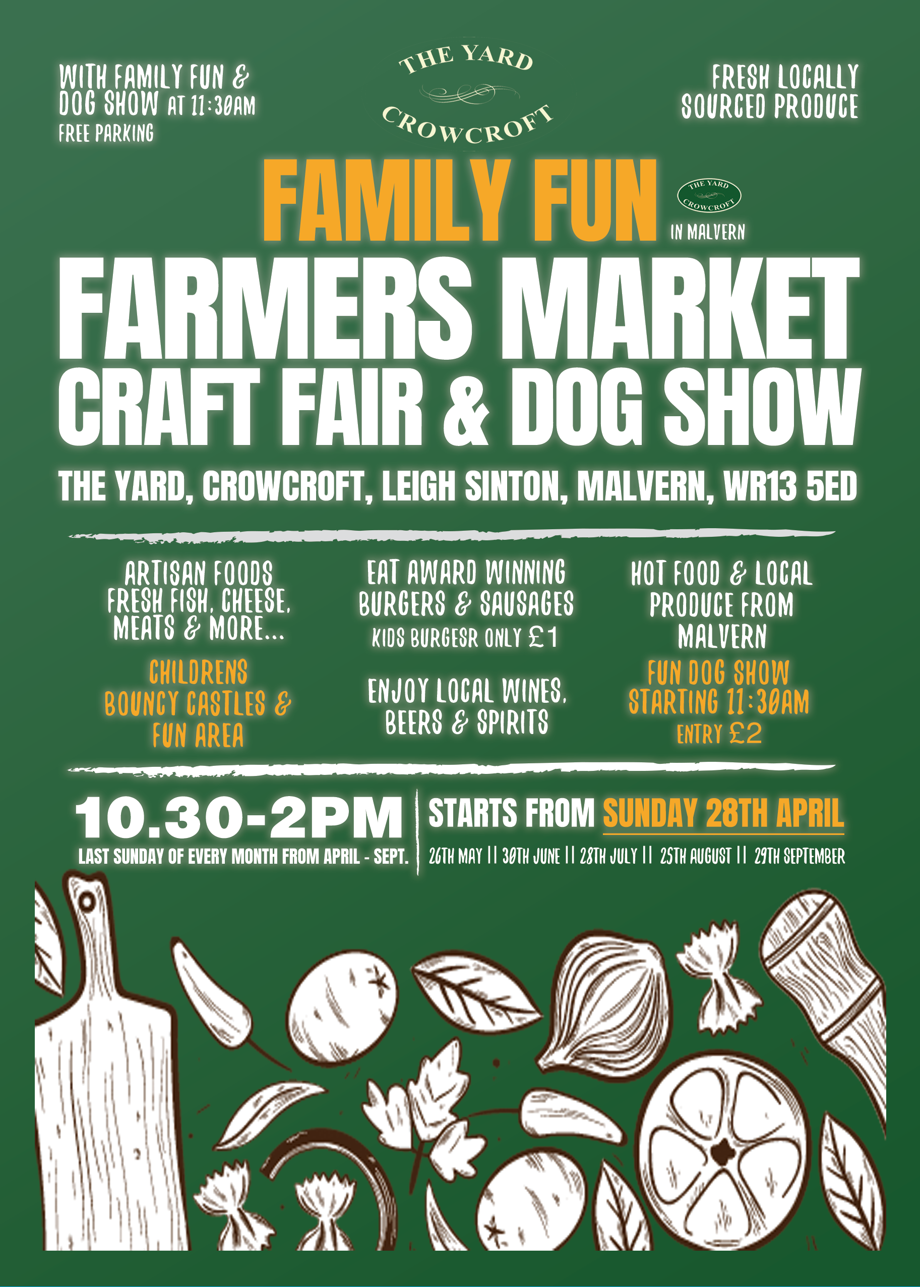 The Yard Malvern Family Farmers Market, Dog Show, Local Food & Bouncy Castles