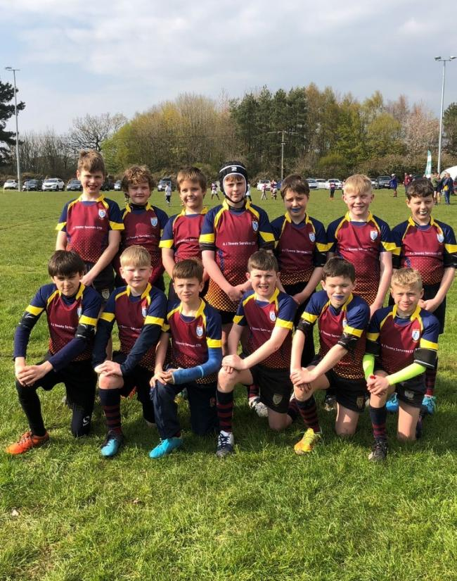 Evesham Rugby Club under 11s on tour near Bournemouth