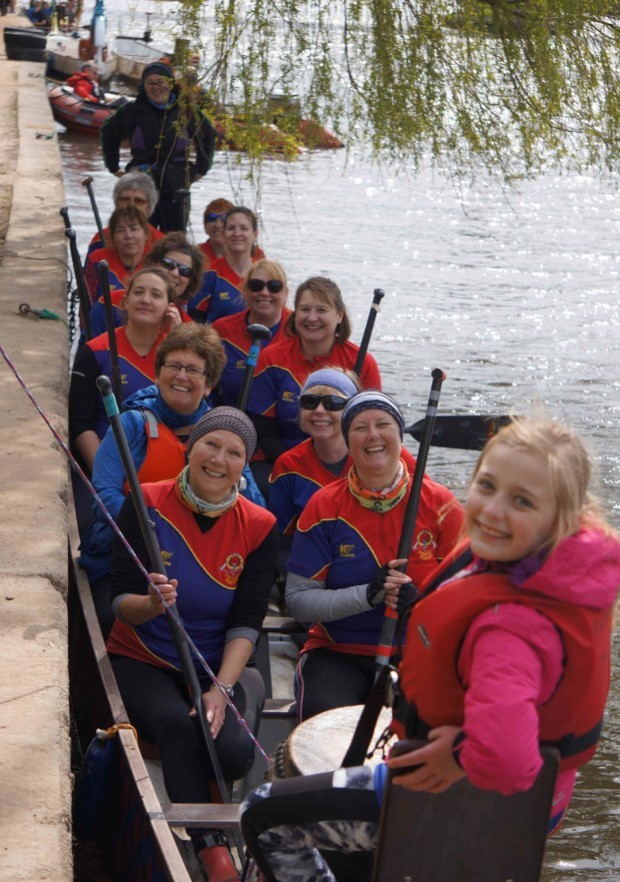 The Pershore Flyers paddlers. Picture: ANDREW DACOMBE