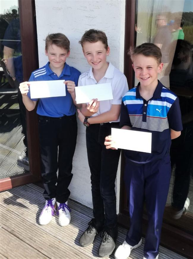 Broadway's junior team of Ryan Wright, Kyle Wright and Ambrose Eaves. Picture: DEBBIE DONOGHUE