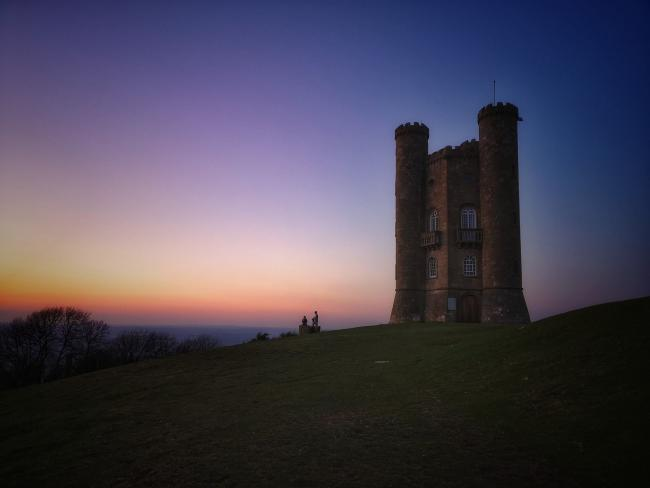 COURSE: Broadway Tower. The golf club was originally situated on the hill below. Pic. Nigel Wood