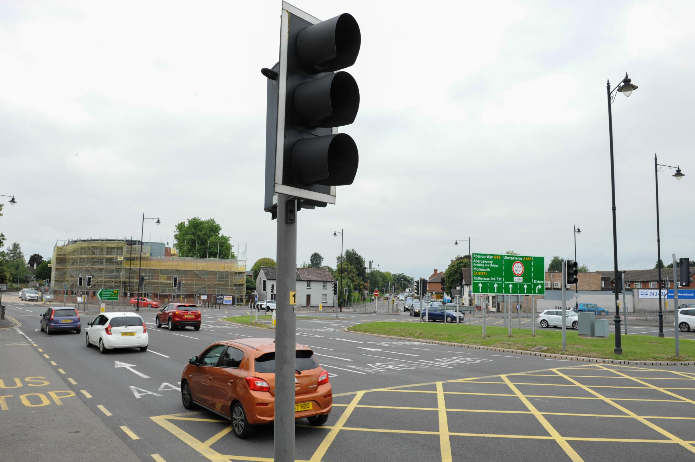 Belmont (ASDA) roundabout, Hereford.