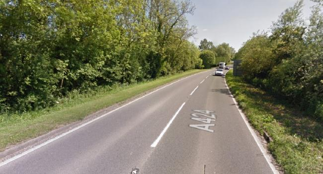 CRASH: The crash happened on the A424 in Upper Rissington. Picture: Google Street View